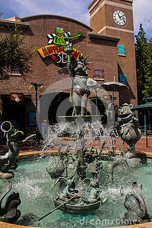 Free Muppet Fountain At Hollywood Studios. Stock Photography - 44995042