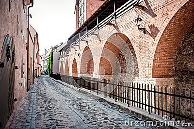 Mur antique de fortification