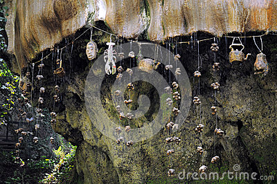 Mur d égoutture dans Knaresborough, Angleterre