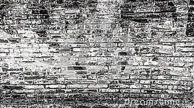 Mur de briques abstrait l 39 arri re plan noir et blanc - Mur de photos noir et blanc ...