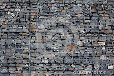 mur de gabion photos libres de droits image 27031848. Black Bedroom Furniture Sets. Home Design Ideas