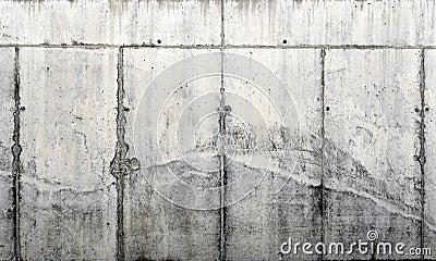 Mur en béton cru