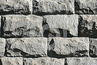 Mur en pierre rugueux