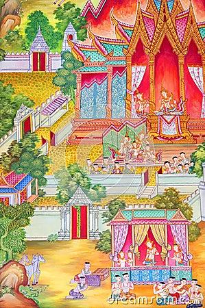 Mural Buddhist religion.