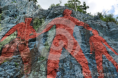 The Mural de la Prehistoria, Vinales, Cuba Editorial Photography