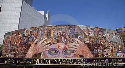 Mural by Diego Rivera Editorial Stock Photo