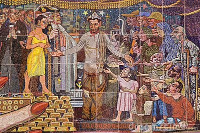 Mural by Diego Rivera Editorial Photo