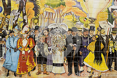 Mural of Diego Rivera Editorial Image