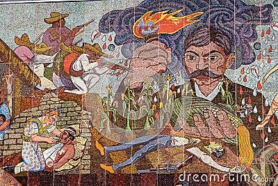 Mural por diego rivera foto de archivo editorial imagen for El mural de mosaicos
