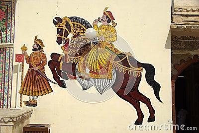 Mural painting in Udaipur, Rajasthan