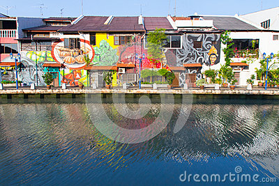 Mural paintings in Melaka Editorial Image