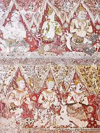 Mural paintings at Wat Yai Suwannaram