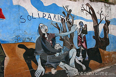 Mural: Protesting Sudan s genocide in Darfur Editorial Stock Photo