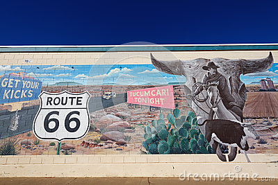 Mural on Route 66 Editorial Photography