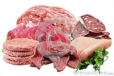 Mural of various meats