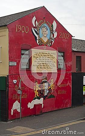 Murals in Belfast Editorial Stock Photo