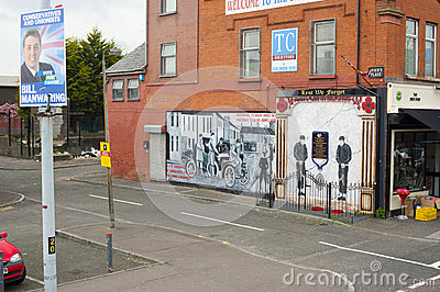 Murals in Belfast Editorial Photography