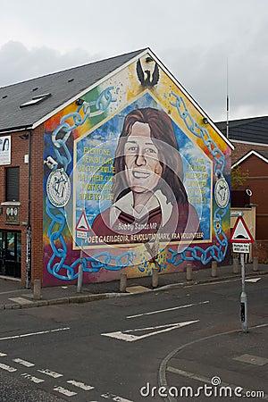 Murals in Belfast Editorial Photography