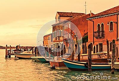 Murano boats in Venice