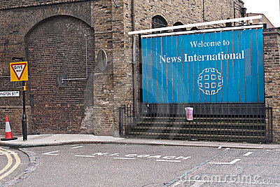 Murdoch s News International headquarters Editorial Image