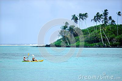 Muri Lagoon in Rarotonga Cook Islands Editorial Photo