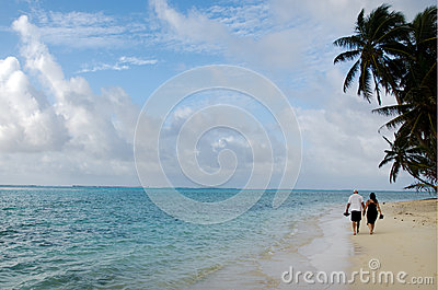 Muri Lagoon in Rarotonga Cook Islands Editorial Image