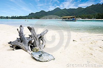 Muri Lagoon in Rarotonga Cook Islands Editorial Stock Photo