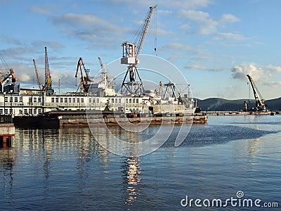 Murmansk sea port