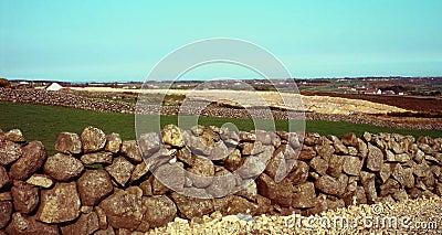 Murs en pierre dans le holywood, Irlande du Nord