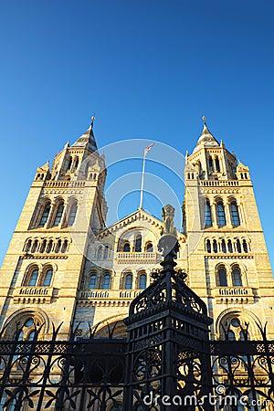 Musée national d histoire à Londres, ciel bleu d espace libre