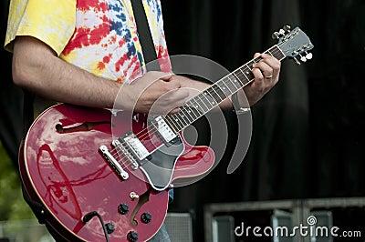 Muscian With Guitar