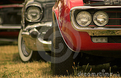 Muscle Cars In A Row