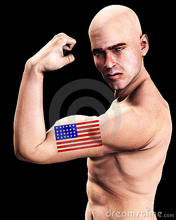 Free Muscle Man US 6 Royalty Free Stock Photo - 2366985