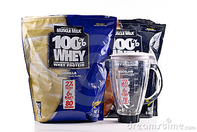 Muscle Milk Whey Protein Editorial Stock Image