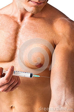 Muscle and syringe