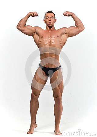 Free Muscled Male Model Royalty Free Stock Photos - 46173548