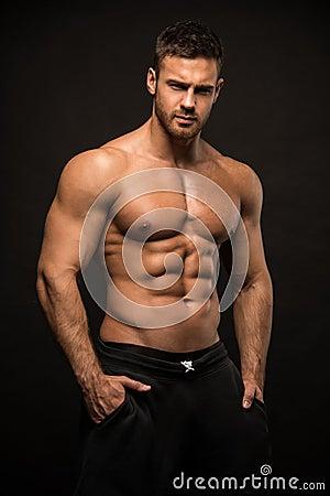 Free Muscled Male Model Konstantin Kamynin Stock Photography - 57902442