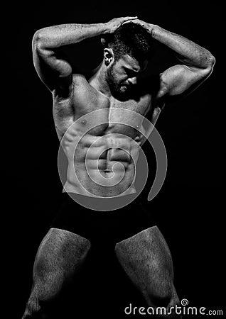 Free Muscled Male Model Konstantin Kamynin Royalty Free Stock Photo - 57902445