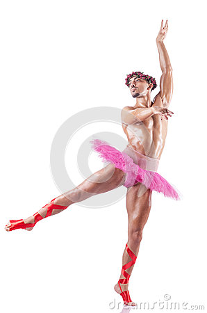 Muscular ballet performe