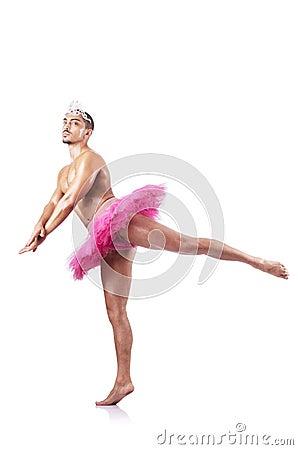 Muscular ballet performer