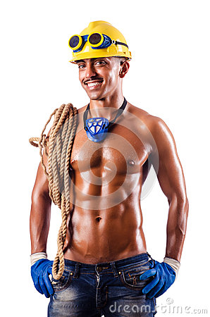 Muscular builder with tools