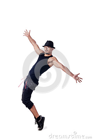 Muscular dancer isolated