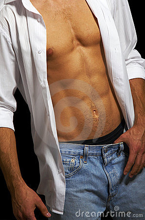 Free Muscular Male Torso Royalty Free Stock Photos - 6500398