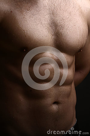 Free Muscular Male Wet Torso Royalty Free Stock Photography - 61953127