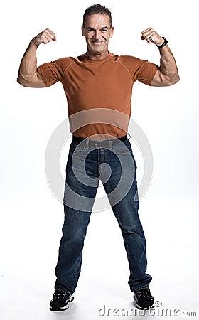 Muscular man of 50s