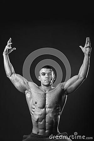 Free Muscular Man Bodybuilder Royalty Free Stock Photos - 53721448