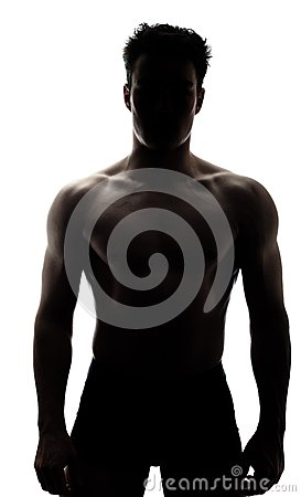 Free Muscular Man In Silhouette Stock Photo - 30260140