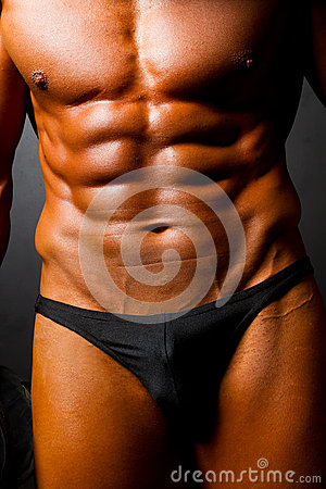 Muscular man s body