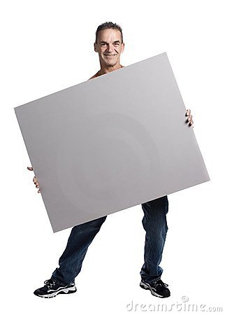 Free Muscular Man With White Panel Royalty Free Stock Photo - 2404185