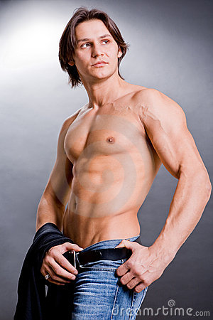 Free Muscular Sexy Man With A Naked Torso Royalty Free Stock Photo - 4439075